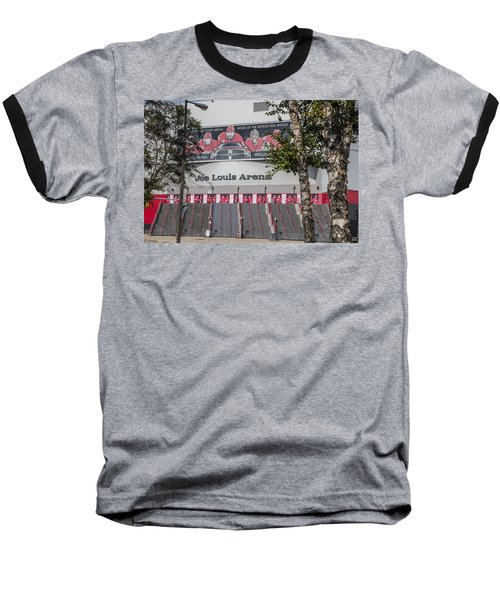 Joe Louis Arena And Trees Baseball T-Shirt