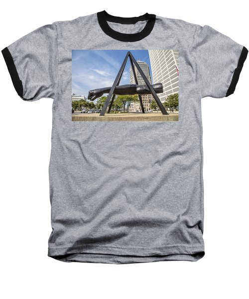 Joe Louis Fist In Detroit In Color  Baseball T-Shirt