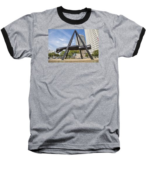 Joe Louis Fist In Detroit In Color  Baseball T-Shirt