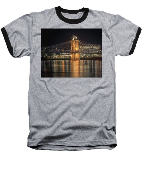John A. Roebling Suspension Bridge Baseball T-Shirt