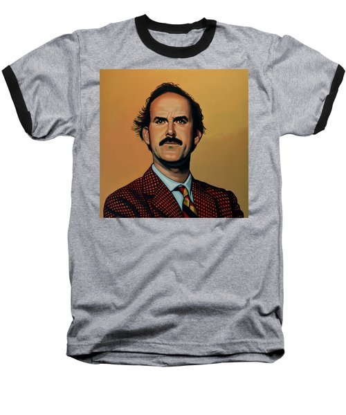 John Cleese Baseball T-Shirt by Paul Meijering