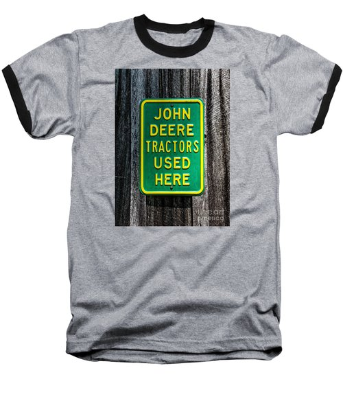 Baseball T-Shirt featuring the photograph John Deere Used Here by Paul Mashburn