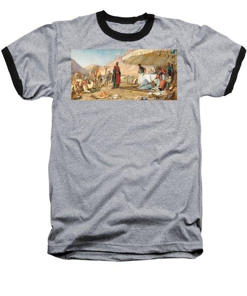 Baseball T-Shirt featuring the photograph John Frederick Lewis Mount Sinai 1842 by Munir Alawi
