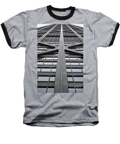 John Hancock Building Baseball T-Shirt by Mary Machare