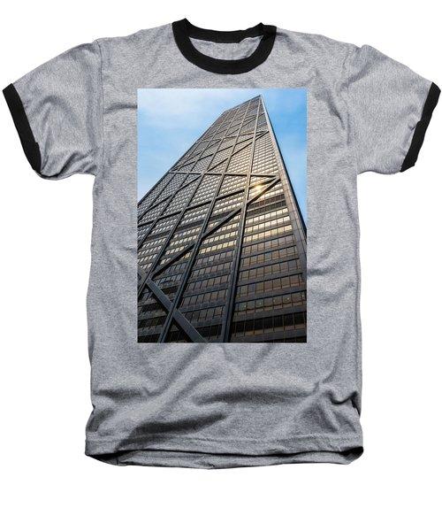 John Hancock Center Chicago Baseball T-Shirt by Steve Gadomski
