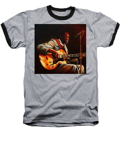 Baseball T-Shirt featuring the painting John Lee by Emery Franklin