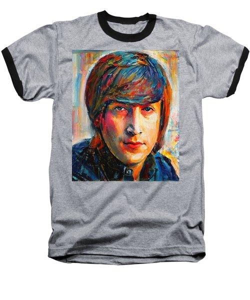 John Lennon Young Portrait Baseball T-Shirt