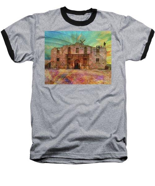 John Wayne's Alamo Baseball T-Shirt by John Robert Beck