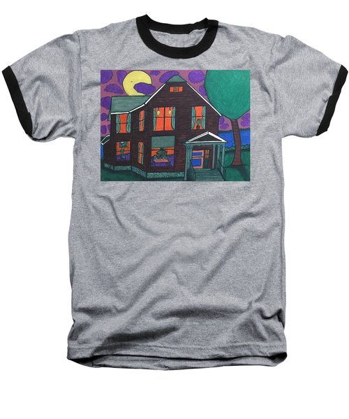 Baseball T-Shirt featuring the painting John Wells Home. by Jonathon Hansen