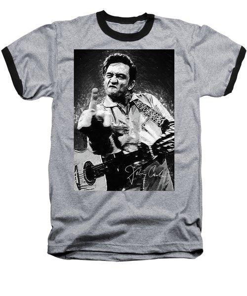 Johnny Cash Baseball T-Shirt by Taylan Apukovska