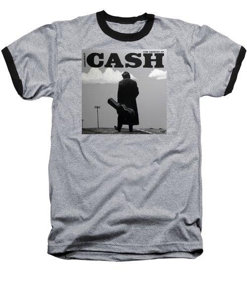 Johnny Cash Baseball T-Shirt by Tom Carlton