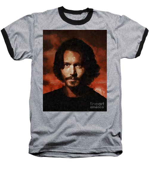 Johnny Depp, Hollywood Legend By Mary Bassett Baseball T-Shirt