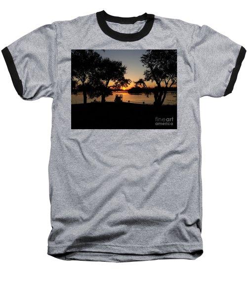 Baseball T-Shirt featuring the photograph Johns Island Sunset by Robert Knight