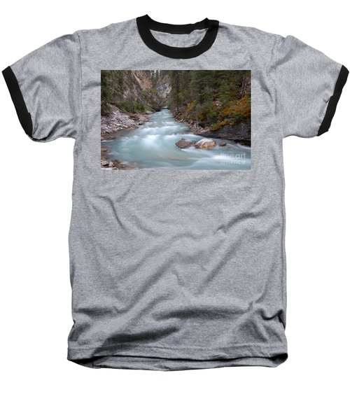 Baseball T-Shirt featuring the photograph Johnston Canyon In Banff National Park by RicardMN Photography
