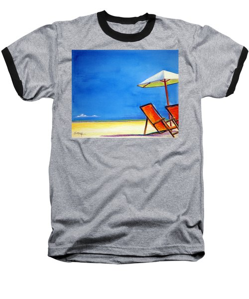 Baseball T-Shirt featuring the painting Join Me by Suzanne McKee