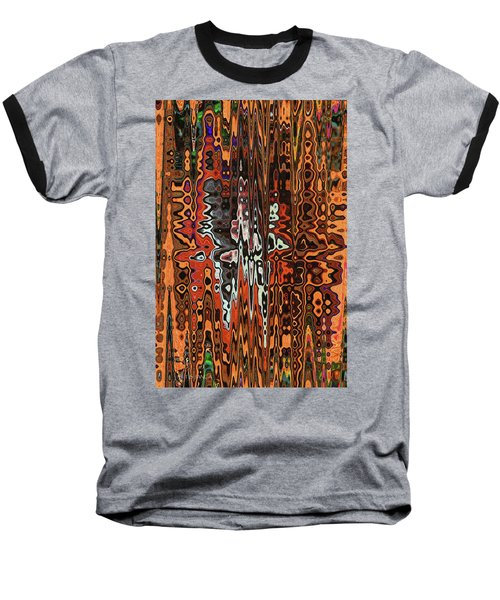 Jojo Abstract Baseball T-Shirt by Tom Janca
