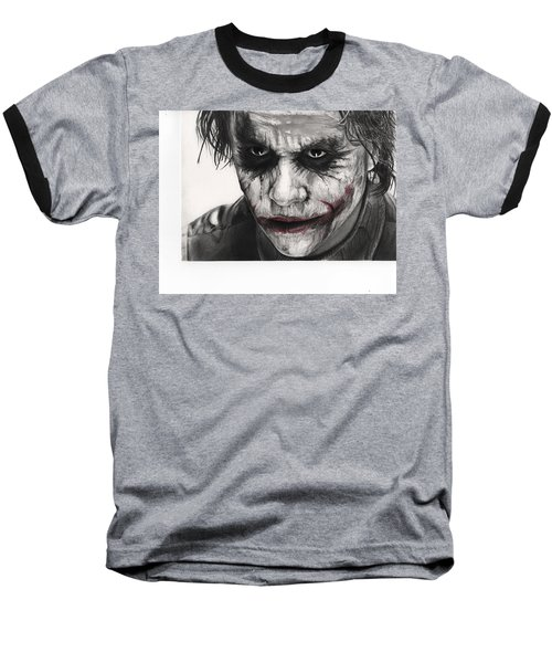 Joker Face Baseball T-Shirt