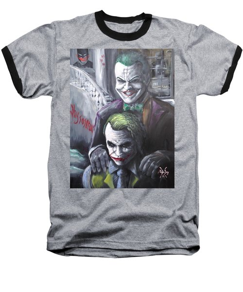 Jokery In Wayne Manor Baseball T-Shirt