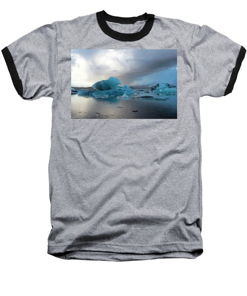 Baseball T-Shirt featuring the photograph Jokulsarlon, The Glacier Lagoon, Iceland 4 by Dubi Roman