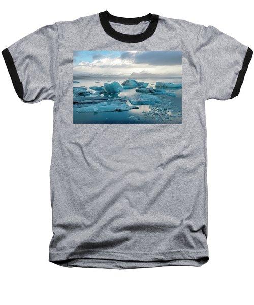 Jokulsarlon, The Glacier Lagoon, Iceland 6 Baseball T-Shirt by Dubi Roman