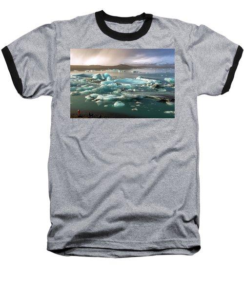 Baseball T-Shirt featuring the photograph Jokulsarlon The Magnificent Glacier Lagoon, Iceland by Dubi Roman