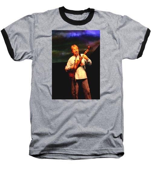 Baseball T-Shirt featuring the photograph Jon Anderson Of Yes by Melinda Saminski