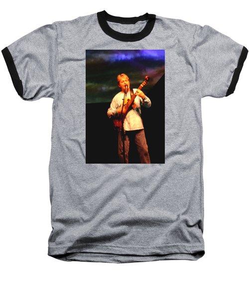 Jon Anderson Of Yes Baseball T-Shirt by Melinda Saminski