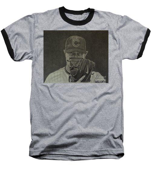 Jon Lester Portrait Baseball T-Shirt