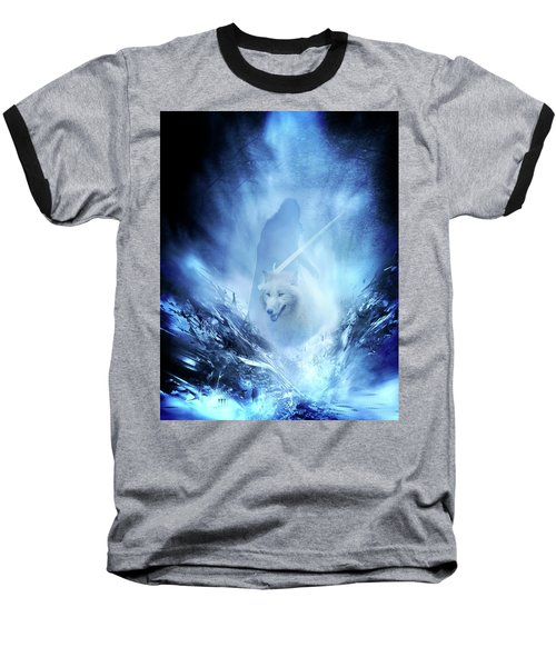 Jon Snow And Ghost - Game Of Thrones Baseball T-Shirt