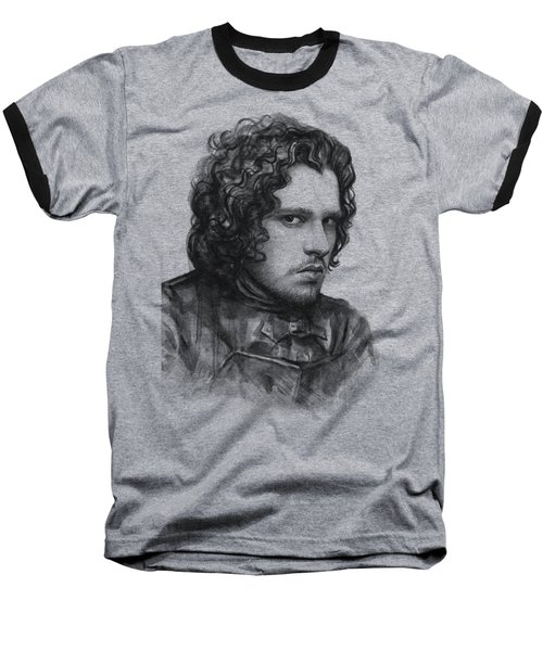 Jon Snow Game Of Thrones Baseball T-Shirt by Olga Shvartsur