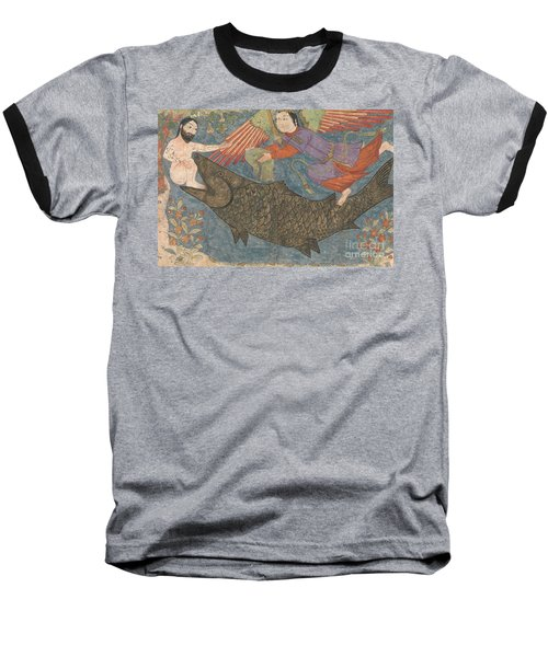 Jonah And The Whale Baseball T-Shirt by Iranian School