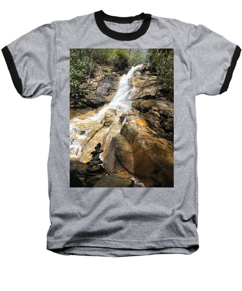 Jones Gap Falls And Monument Baseball T-Shirt by Kelly Hazel