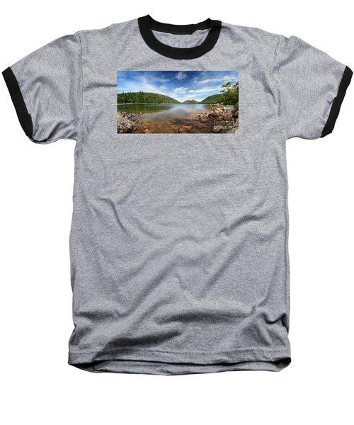 Jordan Pond Panorama Baseball T-Shirt