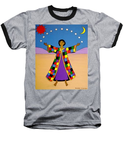Baseball T-Shirt featuring the painting Joseph And His Coat Of Many Colours by Stephanie Moore