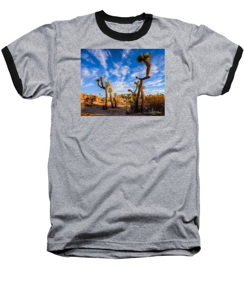Baseball T-Shirt featuring the photograph Joshua Tree Dawn by Rikk Flohr