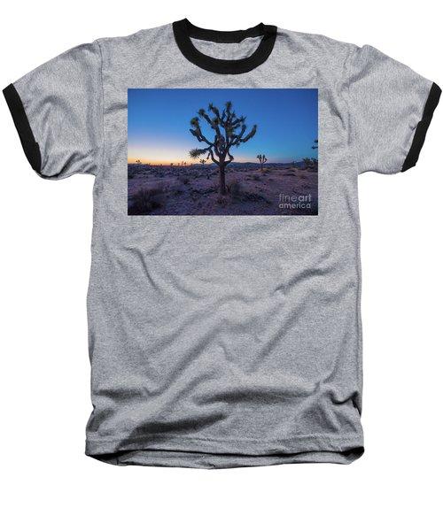 Joshua Tree Glow Baseball T-Shirt by Robert Loe