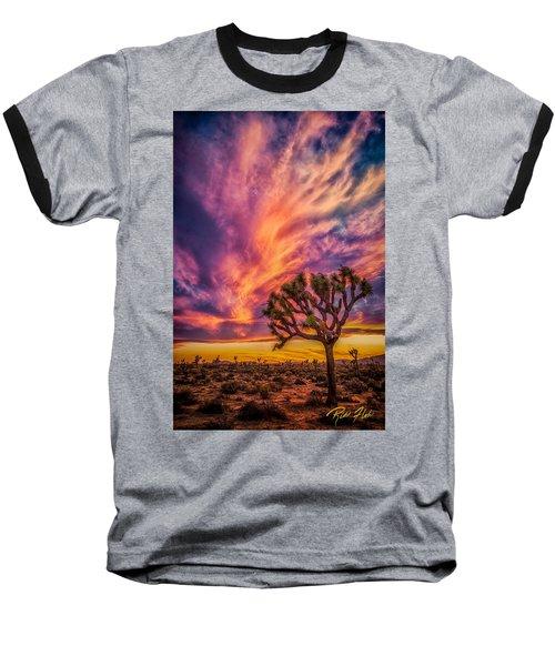 Joshua Tree In The Glowing Swirls Baseball T-Shirt