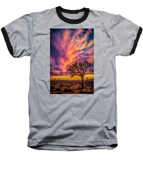 Joshua Tree In The Glowing Swirls Baseball T-Shirt