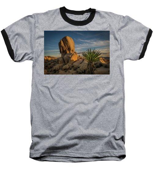 Joshua Tree Rock Formation Baseball T-Shirt