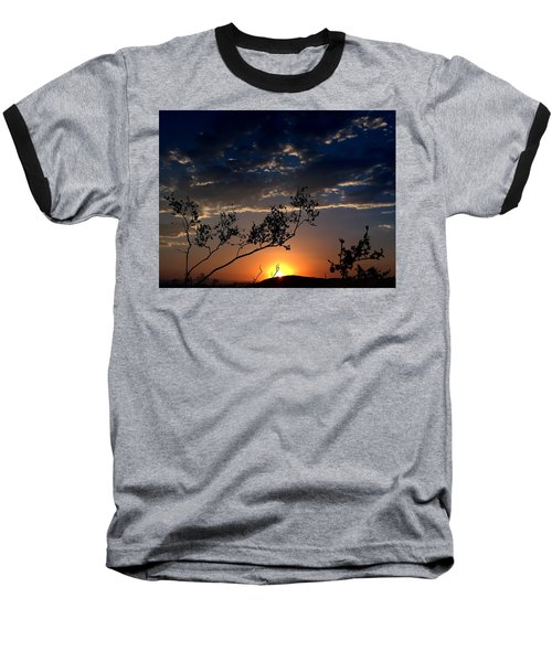 Joshua Tree Sunset Baseball T-Shirt by Chris Tarpening