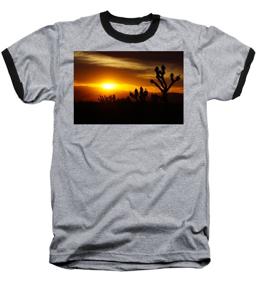 Joshua Tree Sunset In Nevada Baseball T-Shirt