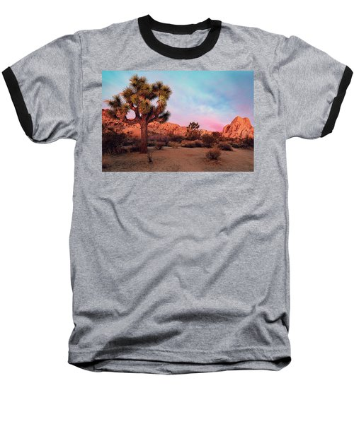 Joshua Tree With Dawn's Early Light Baseball T-Shirt