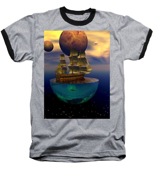 Baseball T-Shirt featuring the digital art Journey Into Imagination by Claude McCoy