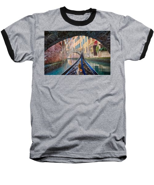 Journey Through Dreams - A Ride On The Canals Of Venice, Italy Baseball T-Shirt
