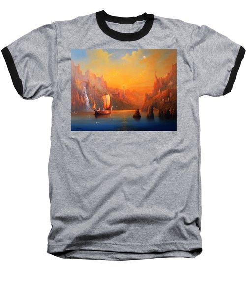 Journey To The Undying Lands Baseball T-Shirt by Joe  Gilronan