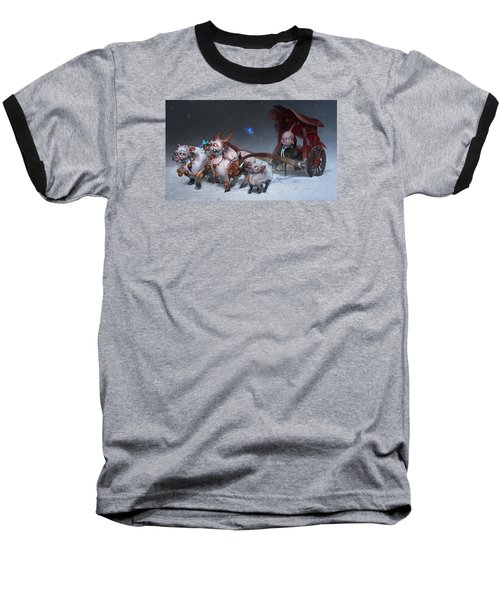 Baseball T-Shirt featuring the digital art Journey To The West by Te Hu