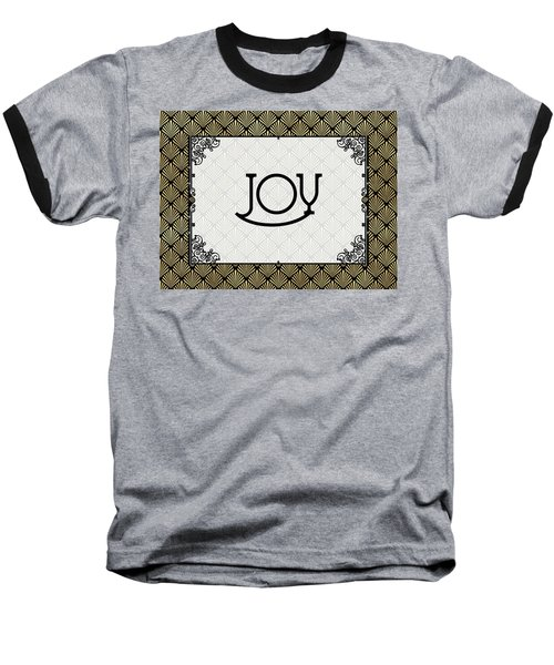 Joy - Art Deco Baseball T-Shirt