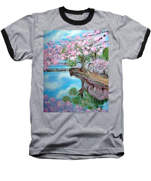 Joy Of Spring. Acrylic Painting For Sale Baseball T-Shirt