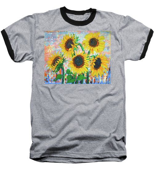 Joy Of Sunflowers Desiring Baseball T-Shirt