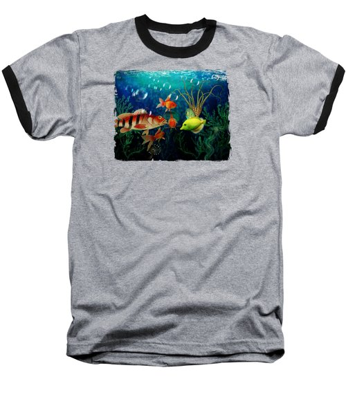 Joy To The Fishes  Baseball T-Shirt by Terry Fleckney